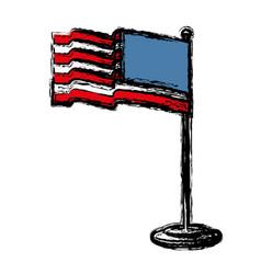 Usa flag icon vector