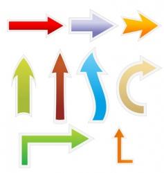 colorful arrows vector image