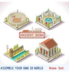 Roman 04 Tiles Isometric vector image
