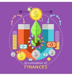 Accumulation of Finances Concept vector image vector image