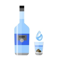 Alcohol drink bottle vector image vector image
