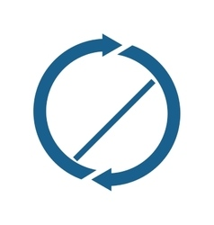 arrow blue direction design vector image