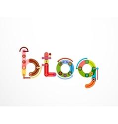 Blog word lettering banner vector image