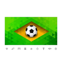 Brasil Flag Triangle vector image vector image