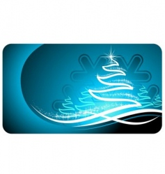 Christmas gift card vector image