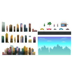 constructor for night city background easy to vector image