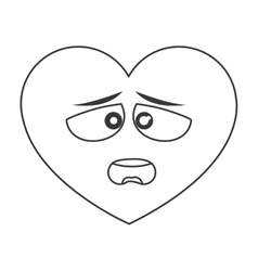 Dislike heart cartoon icon vector