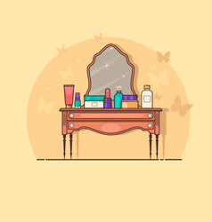 dressing table vector image vector image