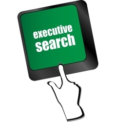 executive search button on the keyboard close-up vector image vector image