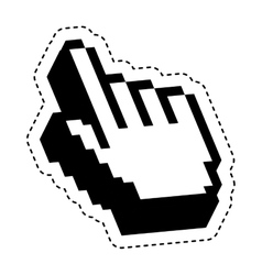 Hand pointer cursor icon vector