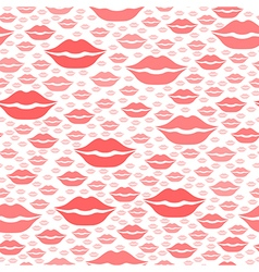 heart kiss pattern red vector image vector image