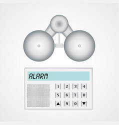 Home alarm security system vector