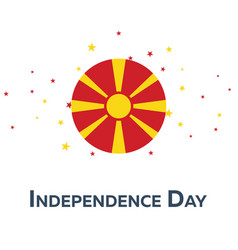 Independence day of macedonia patriotic banner vector