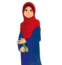 Islamic girl vector