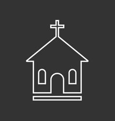 Line church sanctuary icon simple flat pictogram vector
