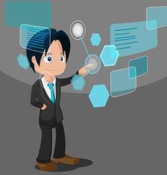 Man Development Software Business Technology vector image
