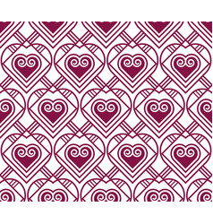 Marsala color pattern with heart vector