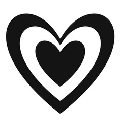 Masculine heart icon simple style vector