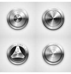 Metallic knobs vector