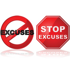 No excuses vector image vector image