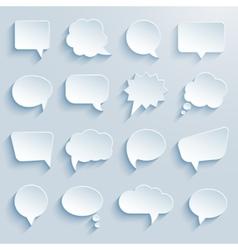 paper communication bubbles vector image