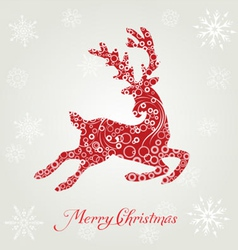 Poster merry christmas typography vector