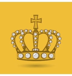 Queens crown design vector image