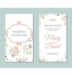 Romantic cards template vector image vector image