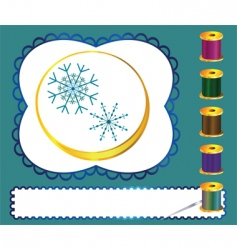 sewing kit vector image vector image