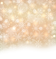 Shimmering xmas light background with snowflakes vector