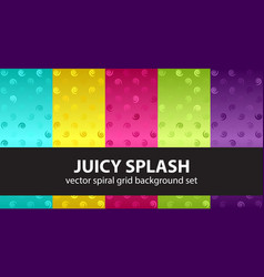 Spiral pattern set juicy splash seamless vector
