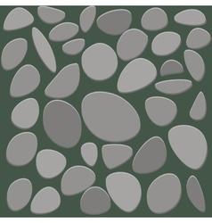 Stone floor tile on white background vector image vector image
