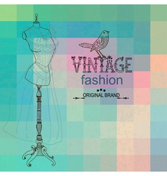 Vintage card with retro dummy vector image vector image