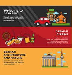 Welcome to germany advertisement banners with vector