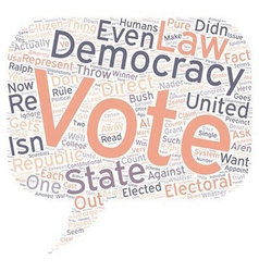 Why the united states is not a democracy text vector
