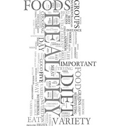 your best key to a healthy diet variety text word vector image