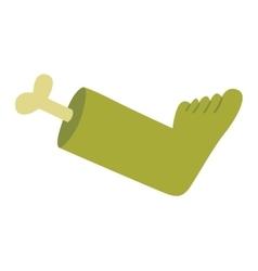 Zombie halloween cartoon foot vector image vector image