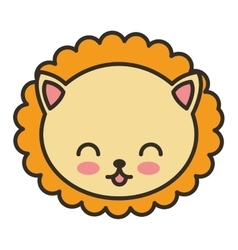 Cute animal tender isolated icon vector