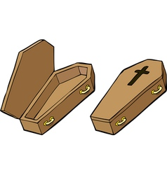two coffins vector image