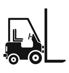 Stacker loader icon simple style vector image