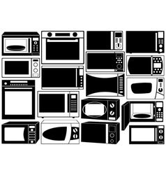 Set of microwave ovens vector image