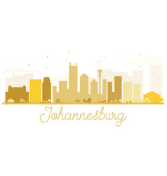Johannesburg city skyline golden silhouette vector