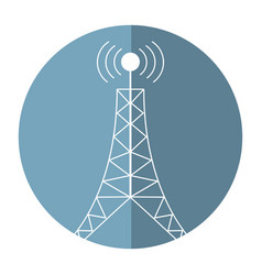 Antenna tower broadcast connection shadow vector