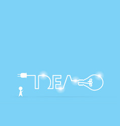 Businessman and light bulb idea vector