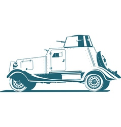 Vintage armored car vector