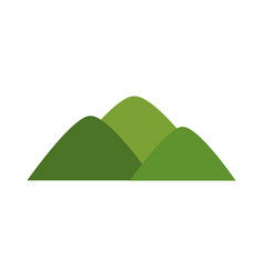 Cartoon mountain natural green bush landscape vector