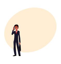 black african american businessman standing vector image