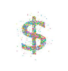 Dollar abstract circles vector