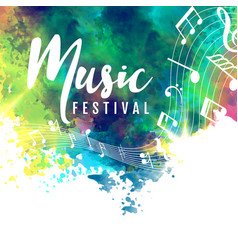 Abstract colorful grunge style musical background vector