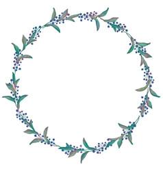 Drawn watercolor greenery wreath vector